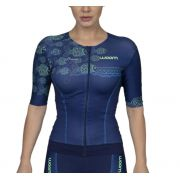 Top Triathlon com manga 140 Ocean - Fem - 2019