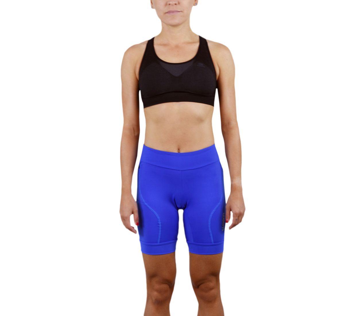 Bermuda Running Fem - Burns - Azul