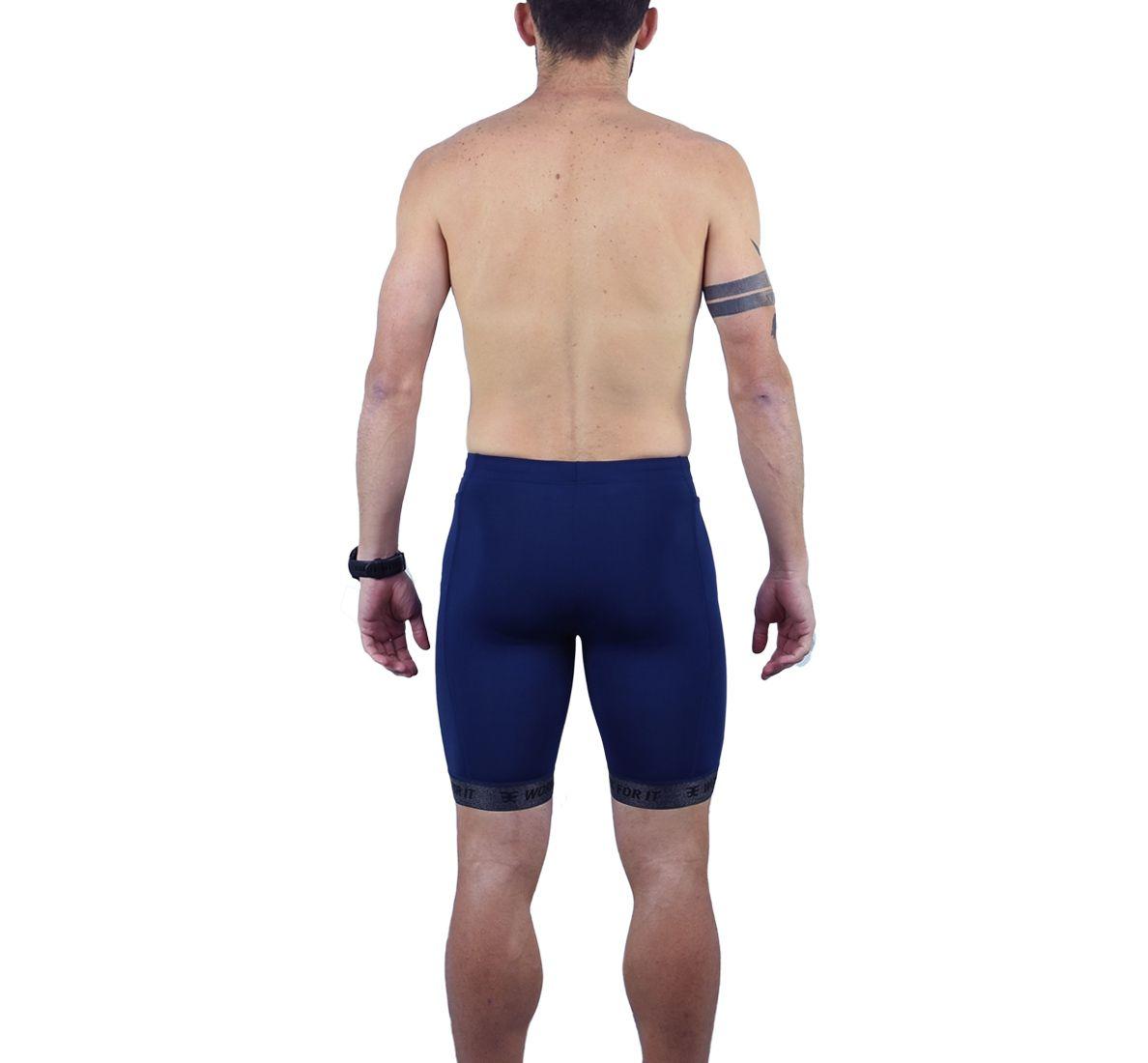 Bermuda Running Masc - Lalas - Azul