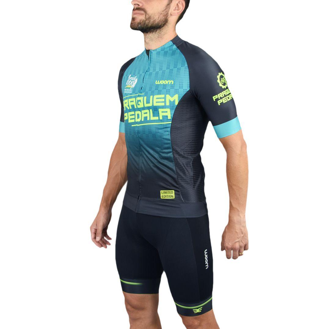 Camisa Ciclismo Masc - PQP - Preto e azul