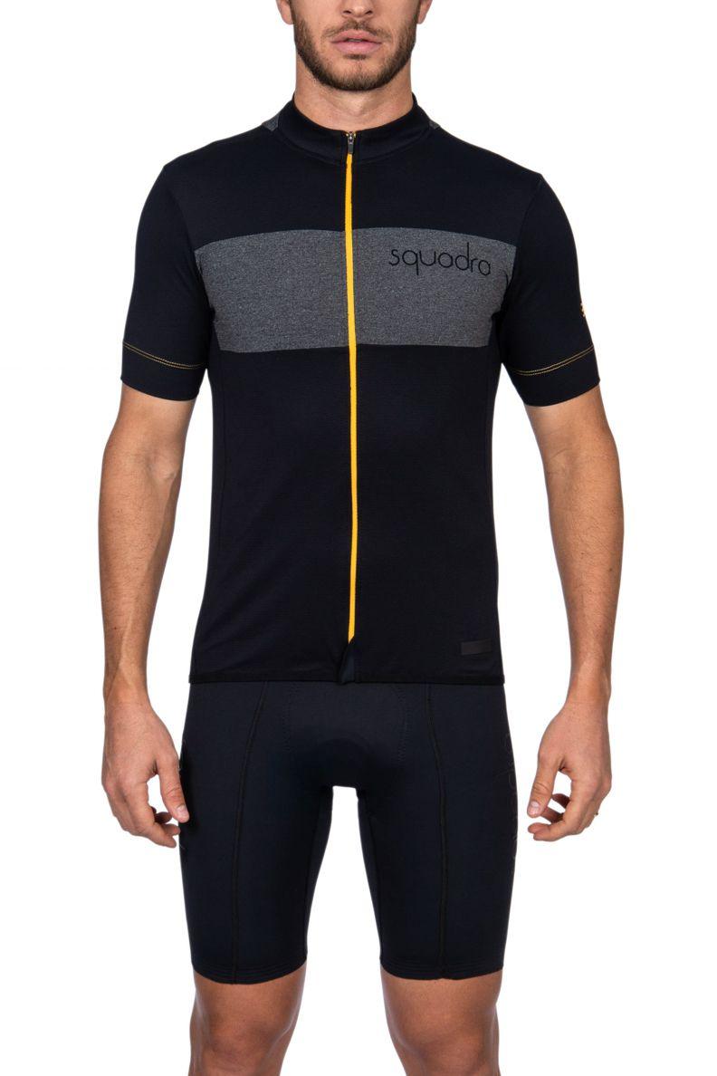 Camisa Ciclismo Squadra Preto e Amarelo - Masc - 2019