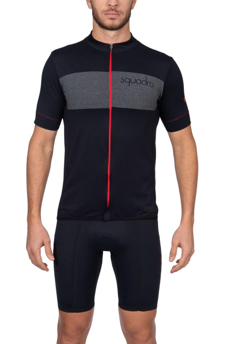 Camisa Ciclismo Squadra Preto e Vermelho - Masc - 2019