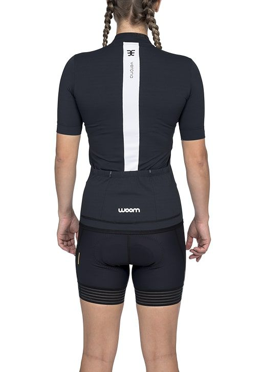 Camisa Ciclismo Squadra Verona (Preto) - Fem - 2020