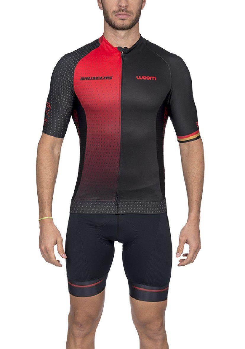 Camisa Ciclismo Supreme Bruxelas (Vermelho) - Masc - 2020