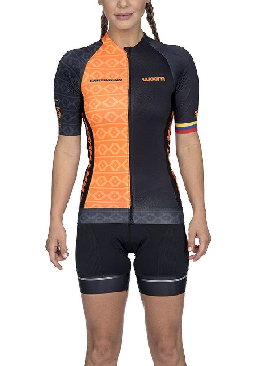 Camisa Ciclismo Supreme Cartagena (Laranja) - Fem - 2020