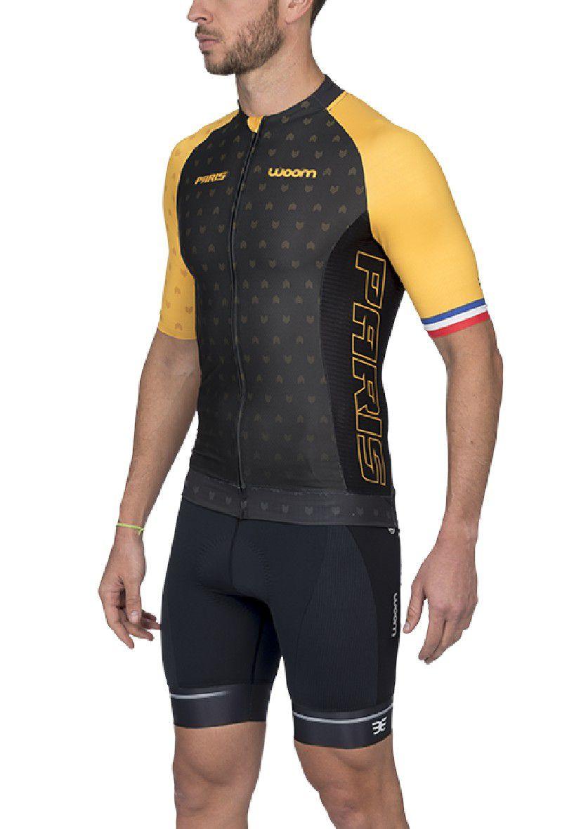 Camisa Ciclismo Supreme Paris (Amarelo) - Masc - 2020