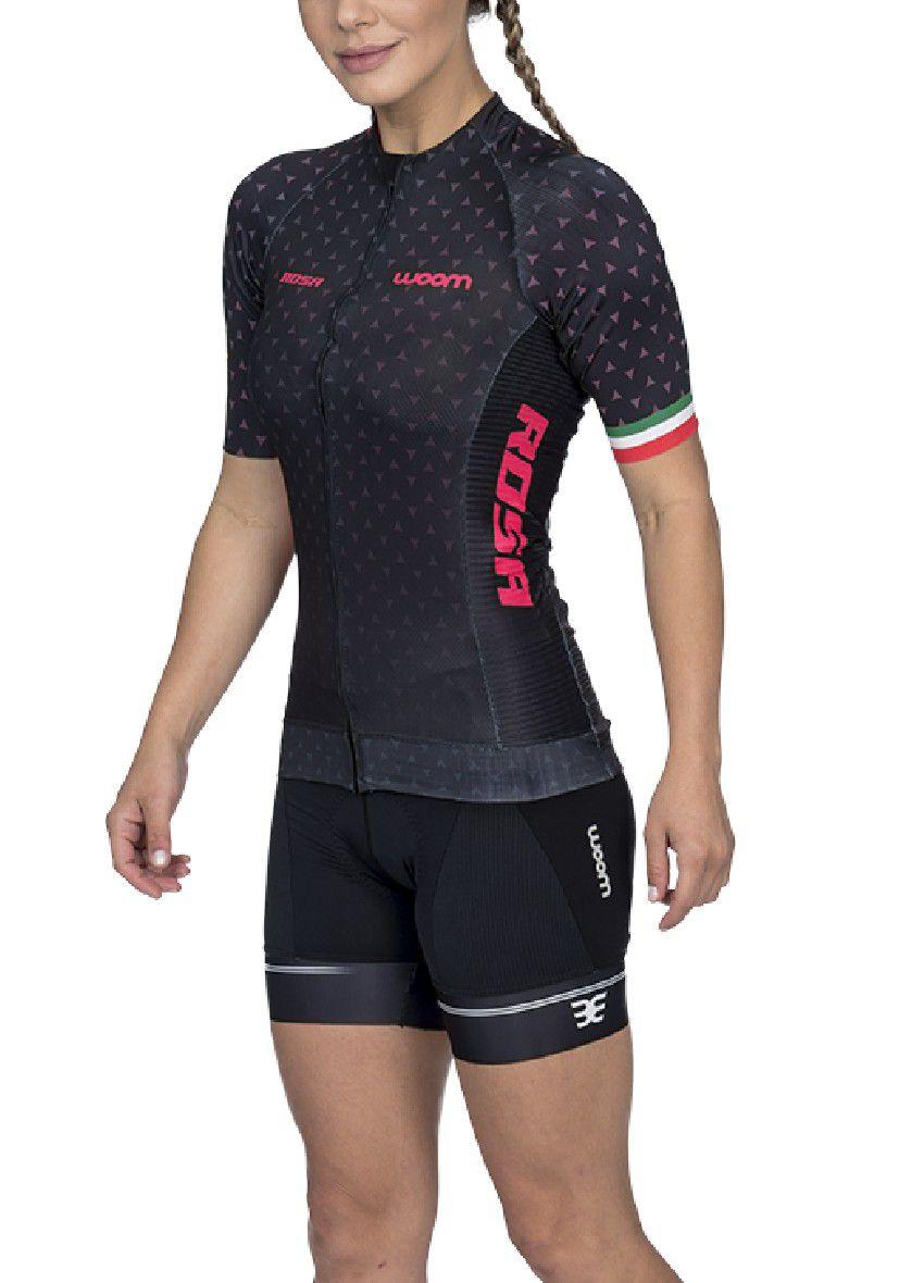 Camisa Ciclismo Supreme Rosa (Preto) - Fem - 2020