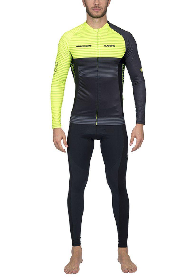 Camisa de Ciclismo ML Supreme Modena (Verde) - Masc - 2020
