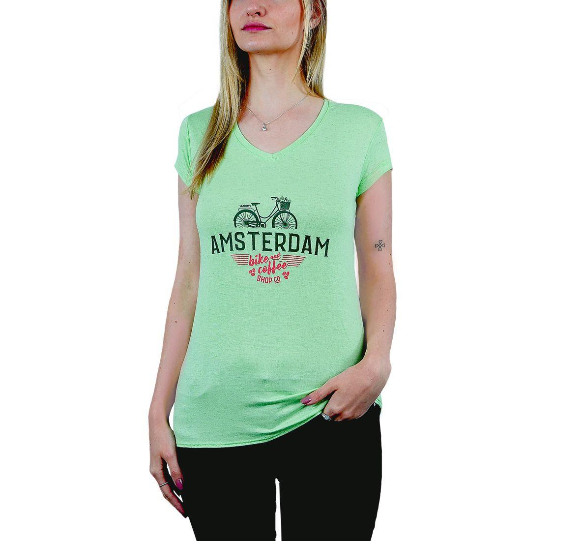 Camiseta Amsterdam Fem - Verde - Woom 247