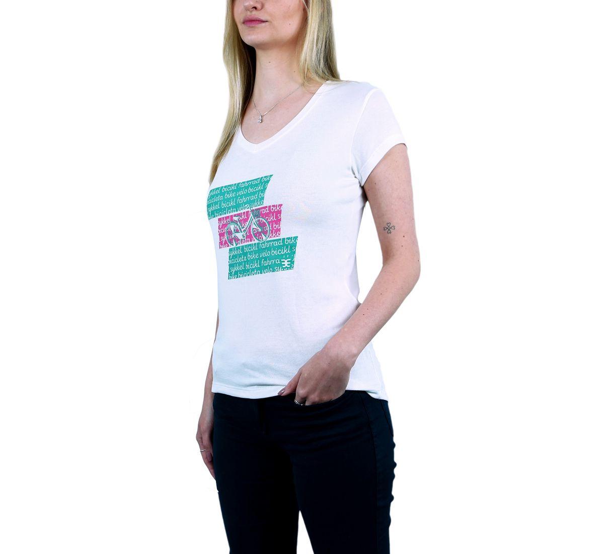 Camiseta Bici Mundi Fem - Off White - Woom 247