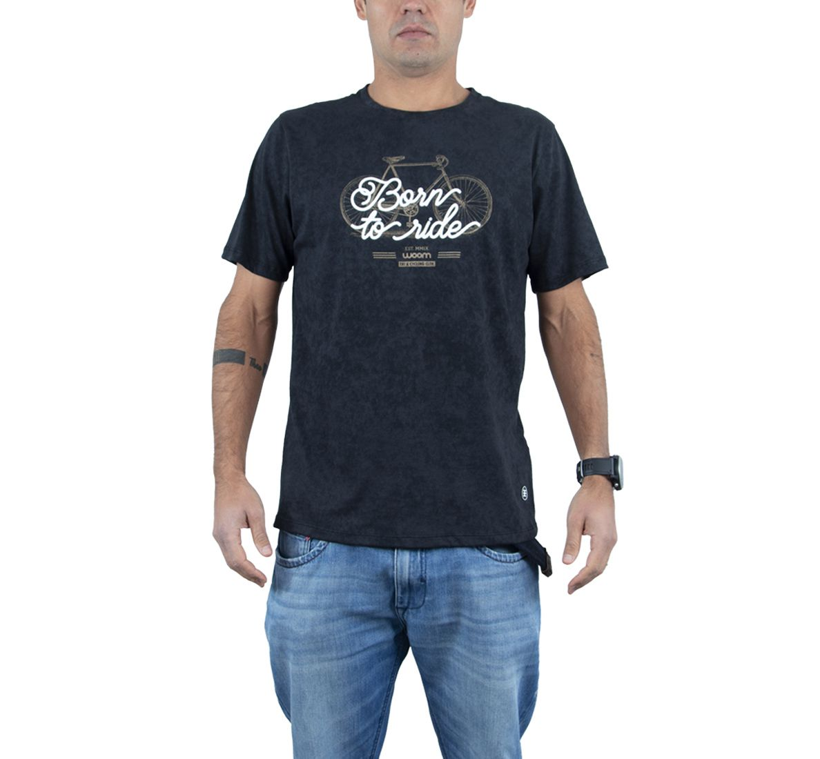 Camiseta Born To Ride Masc - Preto - Woom 247