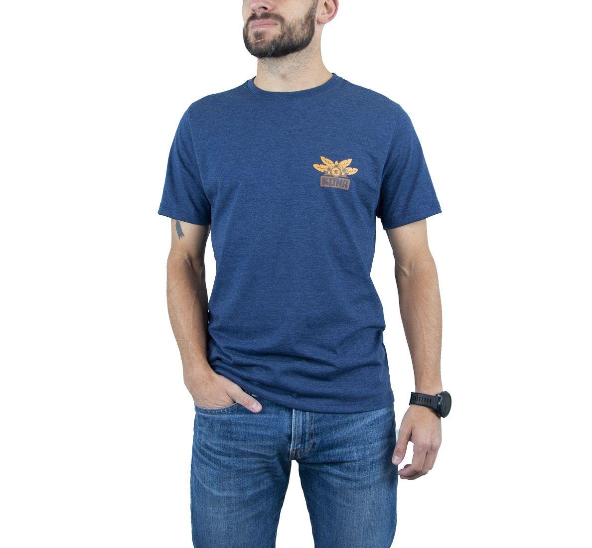 Camiseta Kona Masc - Azul Marinho - Woom 247