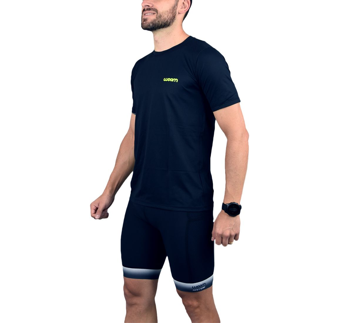 Camiseta Running Masc - Tucker - Preto e Verde