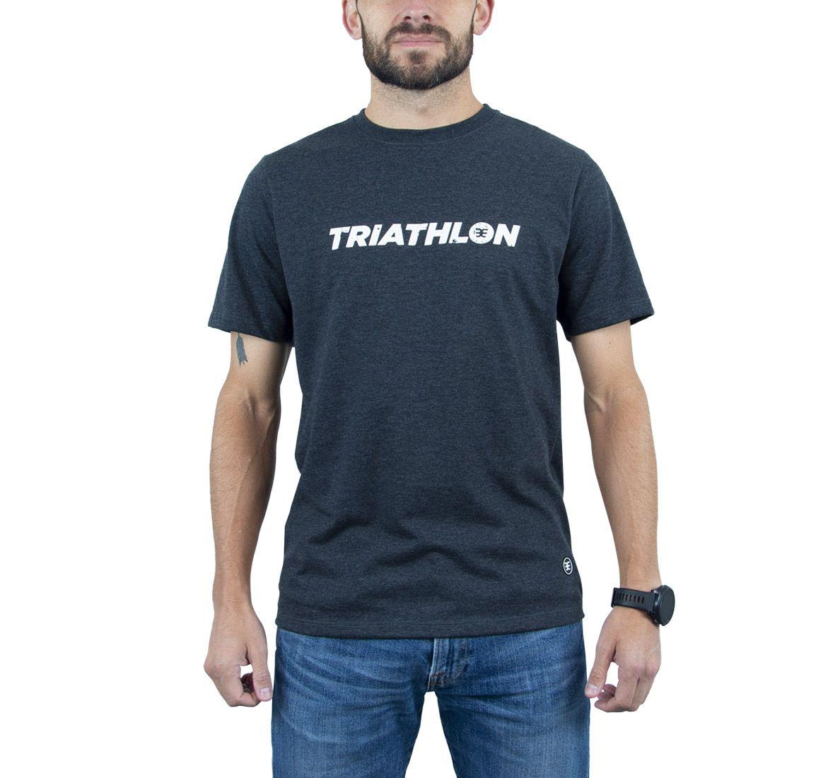 Camiseta Triathlon Masc - Dark Mescla - Woom 247