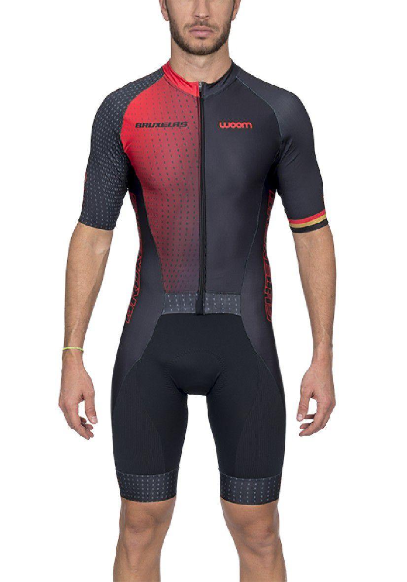 Macaquinho Ciclismo Supreme Bruxelas (Vermelho) - Masc - 2020