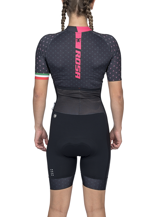 Macaquinho Ciclismo Supreme Rosa (Preto) - Fem - 2020