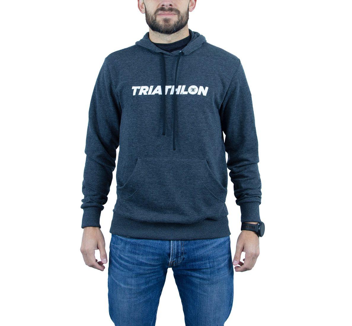 Moletom Triathlon Masc - Preto - Woom 247