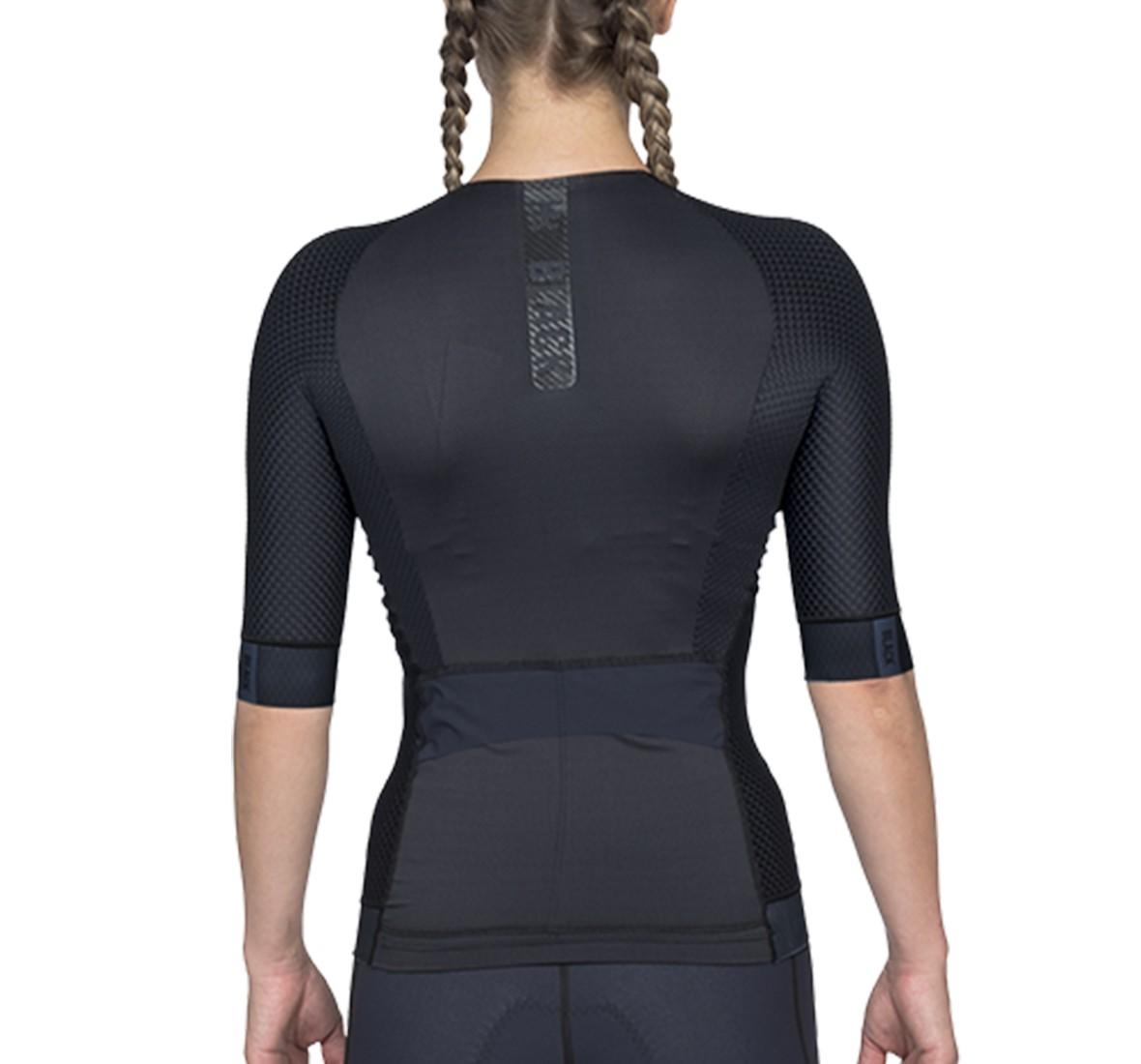 Top Triathlon c/ manga Carbon Black (Preto) - Fem - 2020