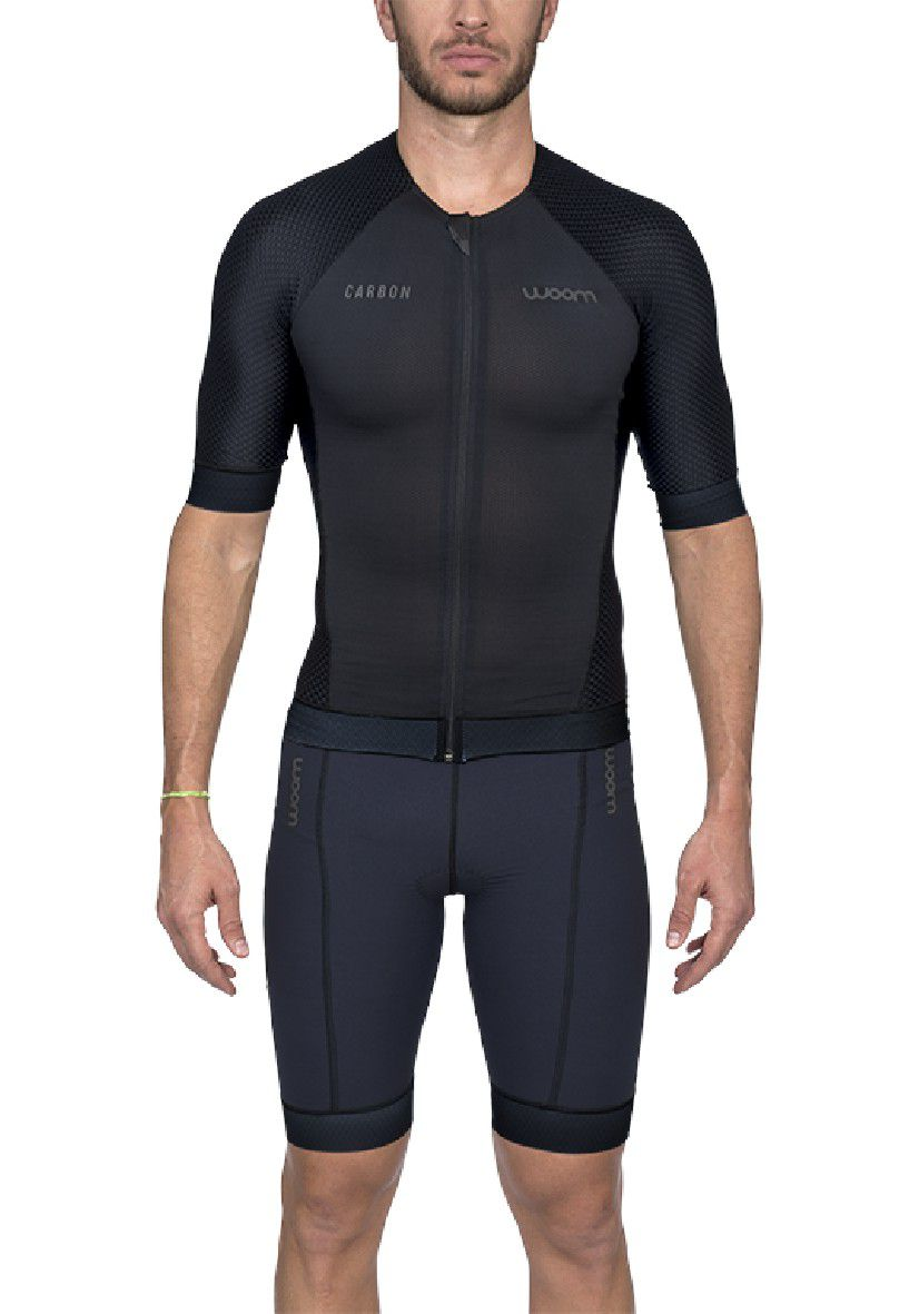 Top Triathlon c/ manga Carbon Black (Preto) - Masc - 2020