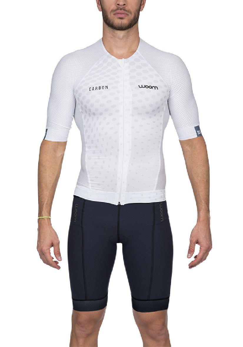 Top Triathlon c/ manga Carbon Ice (Branco) - Masc - 2020
