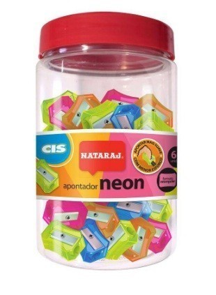 Apontador Nataraj Neon Pote Redondo (60 unidades)