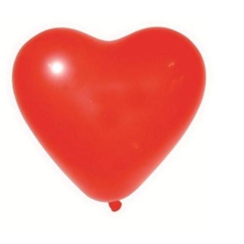 Balão Coração N 6 VERMELHO (50 Unidades)