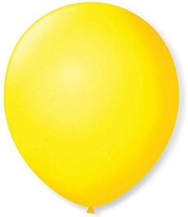 Balão Liso 7,0 Imperial AMARELO Citrino (50 Unidades) - São Roque