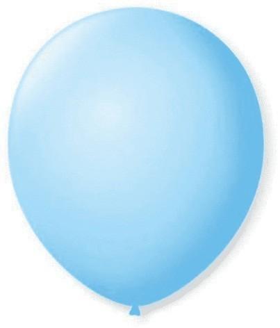 Balão Liso 7,0 Imperial AZUL BABY (50 Unidades) - São Roque