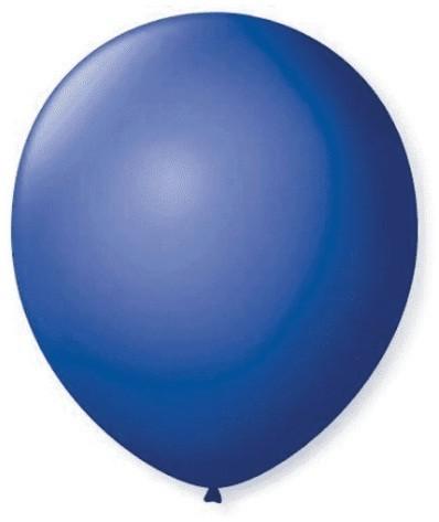 Balão Liso 7,0 Imperial AZUL  COBALTO (50 Unidades) - São Roque