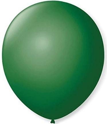 Balão Liso 7,0 Imperial VERDE FOLHA (50 Unidades) - São Roque