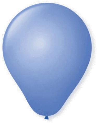 Balão Liso Basic 6,5 AZUL (50 Unidades) - São Roque