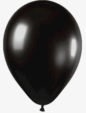Balão Liso Basic 6,5 PRETO (50 Unidades) - São Roque