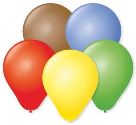 Balão Liso Basic 6,5 Sortido (50 Unidades) - São Roque