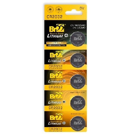 Bateria 3V Litio CR2032 - BR55 (5 Unidades)