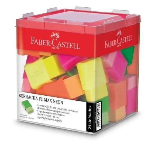 Borracha Colorida Fc Max Neon 4 Cores Sortida - Faber Castell (24 Unidades)
