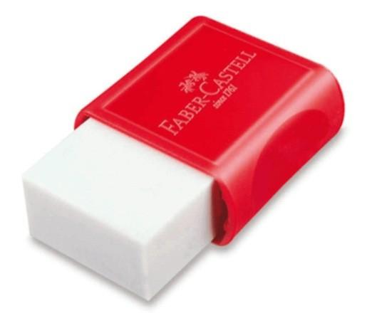 Borracha Pequena Capa Vermelhe TK Plástica (24 unidades) - Faber Castell