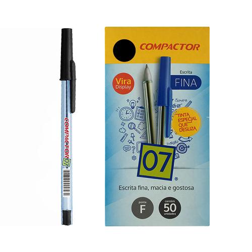 Caneta Compactor 0.7 Preta C/50