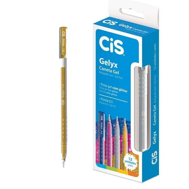 Caneta Gelyx Ouro 1.0mm - Cis (8 Unidades)