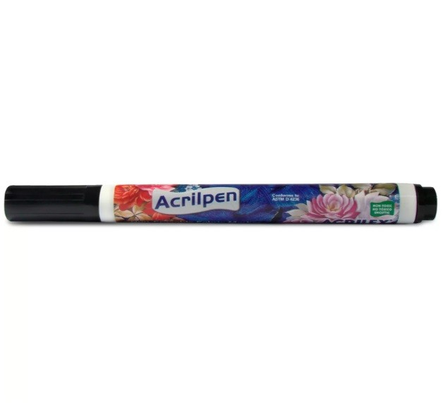 Caneta para Tecido 520 PRETA - Acrilex