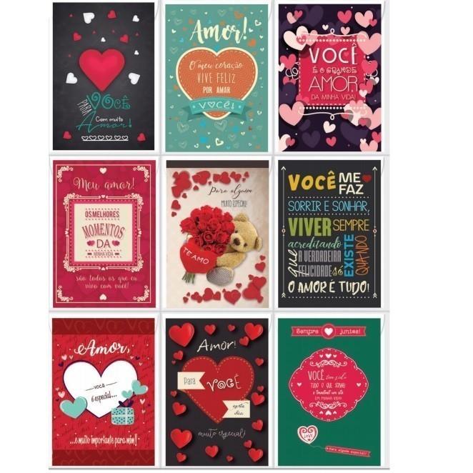 Cartão de Mensagem Romantica - Bello Cards (27 Unidades)