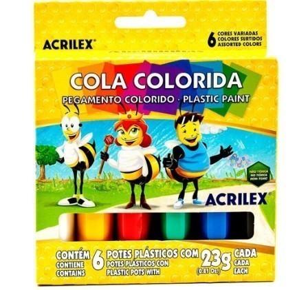 Cola Colorida 23g 6 Unidades SORTIDA - Acrilex