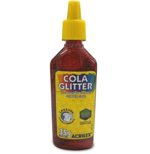 Cola Gliter 35g VERMELHO 205 - Acrilex