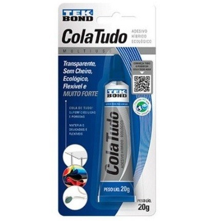 Cola Hibrida Cola Tudo 20g Transparente - Tek Bond