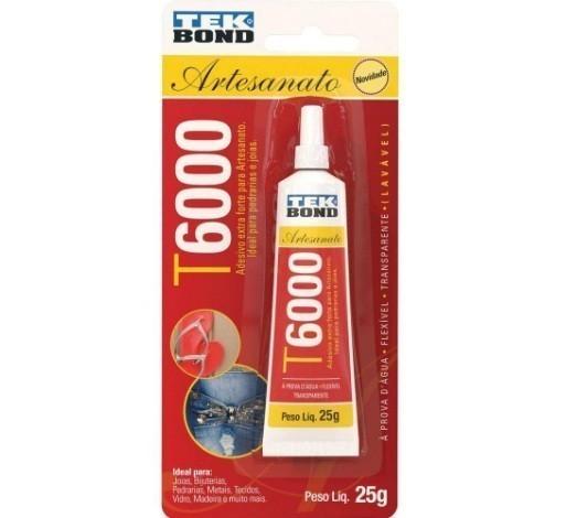 Cola para Artesanato Adesivo EXTRA Forte T6000 25g - Tek Bond