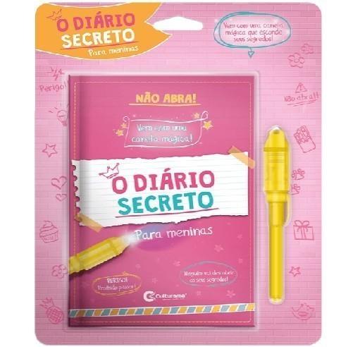 Diário Secreto com Caneta Mágica Meninas