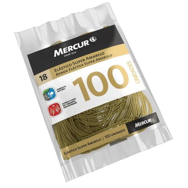 Elástico Super Amarelo 100un - Mercur