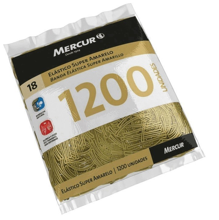 Elástico Super Amarelo 1200un - Mercur