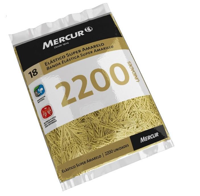 Elástico Super Amarelo - Mercur (220 Unidades)