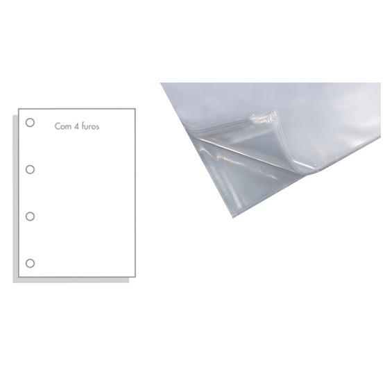 Envelope Plástico Oficio 010/100 C/4 FUROS