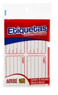 Etiqueta Adesiva 53x80 (16 Unidades)